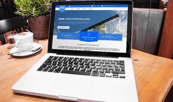 AIVEO CREATIVE DESIGN - WEBDESIGN Akin Gebäudereinigung www.aiveo.de